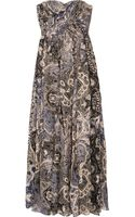 Tibi Swirl Paisley Printed Silk-chiffon Maxi Dress - Lyst