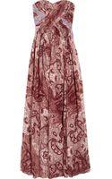 Tibi Swirl Paisley Printed Silk Chiffon Maxi Dress - Lyst