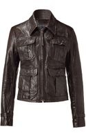 Polo Ralph Lauren Black Leather Motorcycle Jacket - Lyst