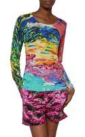 Mary Katrantzou Fishtank Printed Silk T-shirt - Lyst