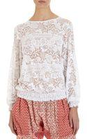 Etoile Isabel Marant Lace Sweatshirt - Lyst