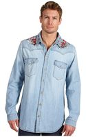 McQ by Alexander McQueen Denim Shirt - Lyst