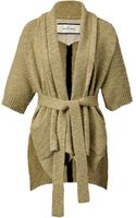 By Malene Birger Beige Cardigan with Belt - Lyst