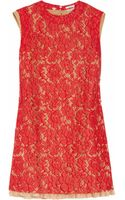 Miu Miu Floral Lace A-line Dress - Lyst