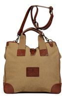 Polo Ralph Lauren Washed Khaki Canvas and Leather Web Handle Tote - Lyst