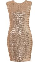 Topshop Sequin Cross Back Bodycon Dress By Dress Up - Lyst