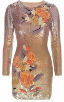 Matthew Williamson Silk Thread Sequin Dress - Lyst