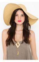 Nasty Gal Asymmetric Straw Hat - Lyst