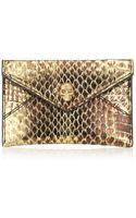 Alexander McQueen Metallic Skull Card Holder - Lyst