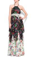 Mango Flower Maxi-dress - Lyst