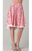 Diane Von Furstenberg Adella Threaded Silk Skirt - Lyst