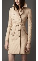 Burberry Quilted Taffeta Trench Coat - Lyst