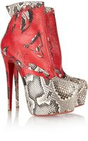 Christian Louboutin 20th Anniversary Daf 160 Python Boots - Lyst