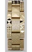Burberry Check Pyramid Bracelet Watch - Lyst