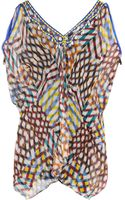 Easton Pearson Diamond Embellished Silk-Chiffon Tunic - Lyst