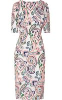 Jil Sander Lizard Paisleyprint Cottonpoplin Dress - Lyst