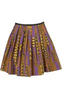 Topshop Aztec Pleat Skater Skirt - Lyst