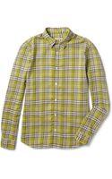 Burberry Brit Lightweight Plaid Slimfit Cotton Shirt - Lyst