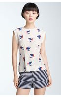Marc By Marc Jacobs Finch Flight Print Silk Top - Lyst