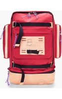 Stussy Deluxe Red Leather Trimmed Tramp Backpack - Lyst