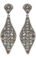 Gemini Drop Earring Made with Swarovski Crystal - Lyst