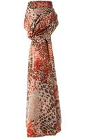 Linea Abstract Leopard Print Oversize Scarf - Lyst