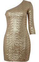 Tfnc One Shoulder Sequin Dress - Lyst