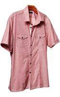 Banana Republic Shortsleeve Solid Utility Shirt - Lyst