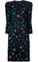 Louis Feraud Vintage Floral Print Dress - Lyst
