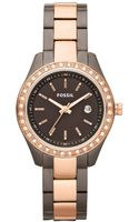 Fossil Mini Stella Brown and Rose Gold Ion Plated Stainless Steel Bracelet 30mm - Lyst