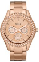 Fossil  Chronograph Stella Glitz Rose Gold Ion Plated Stainless Steel Bracelet 37mm - Lyst