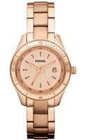 Fossil Mini Stella Rose Gold Ion Plated Stainless Steel Bracelet 30mm - Lyst