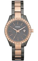 Fossil Rose Gold and Smoke Ion Plated Stainless Steel Bracelet 30mm - Lyst