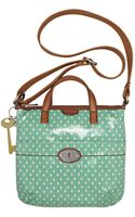 Fossil Vintage Keyper Coated Canvas Crossbody Bag - Lyst