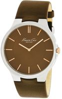 Kenneth Cole Mens Brown Leather Strap Watch  - Lyst