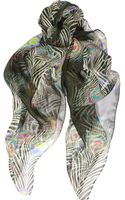 Matthew Williamson Peacock Printed Silkchiffon Scarf - Lyst