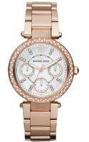 Michael Kors Chronograph Rose Gold Tone Stainless Steel Bracelet 33mm - Lyst