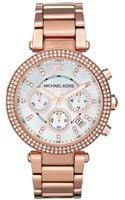 Michael Kors Chronograph Rose Gold Tone Stainless Steel Bracelet  - Lyst
