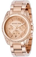 Michael Kors Chronograph Rose Gold Tone Stainless Steel Bracelet 41mm - Lyst