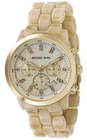 Michael Kors Chronograph Stainless Steel and Horn Acrylic Bracelet 44mm - Lyst