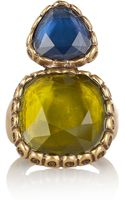 Oscar de la Renta 24karat Goldplated Resin Ring - Lyst