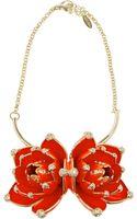 Roberto Cavalli Goldplated Swarovski Crystal Necklace - Lyst