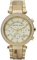 Michael Kors Parker Glitz Watch Golden - Lyst