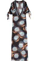 Diane Von Furstenberg Printed Silk Chiffon Maxi Kaftan - Lyst