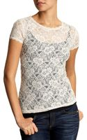 French Connection Vanity Lace Top - Lyst