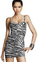 H&M Zebra Dress - Lyst