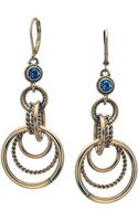 T Tahari Crystal and Circular Drop Earrings - Lyst