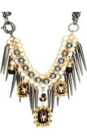 Asos Asos Premium Spider Jewel Spike Necklace - Lyst