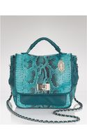 Elie Tahari Satchel Glass Python Stacey Top Handle - Lyst
