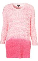 Topshop Knitted Dip Dye Slubby Jumper - Lyst